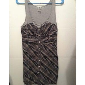 EUC Free People plaid mini dress sz 4